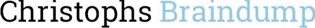 Christoph's Braindump Logo